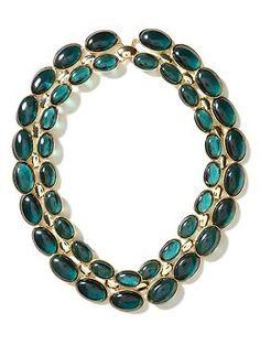 Teal stone layered necklace   Banana Republic