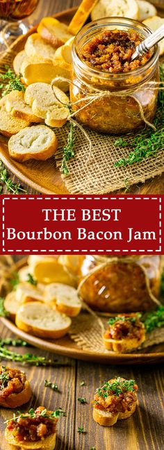 This is the best bourbon bacon jam you'll ever try! You can serve this easy bacon jam recipe in so many ways and everyone is sure to quickly gobble up this bacon spread. Get this delicious bourbon bacon jam recipe and make it today! Bacon Recipes, Jam Recipes, Brunch Recipes, Appetizer Recipes, Dinner Recipes, Cooking Recipes, Appetizers, Sauce Recipes, Cooking Sauces