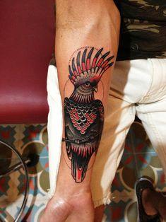 Major Mitchell Cockatoo parrot tattoo