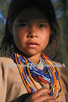 Arhuaca girl from the northern Caribbean region and Sierra Nevada de Santa Marta Mountains of Colombia.