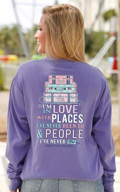 Jadelynn Brooke In Love With Places Long Sleeve Southern Preppy Tee