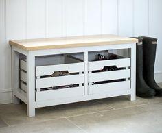 Emsworth Storage Bench with Crates