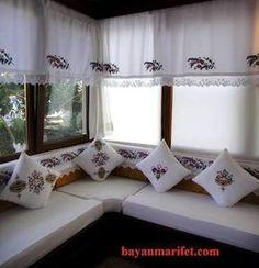 Kids Curtains, Valance Curtains, Cortinas Country, Home Interior Design, Interior Decorating, Elegant Curtains, Curtain Designs, Paint Furniture, Home Textile