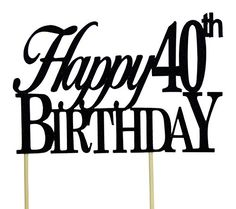 Black Happy 40th Birthday Cake Topper All About Details http://www.amazon.com/dp/B00M9ZLGKM/ref=cm_sw_r_pi_dp_gCpkxb1KXYVBN