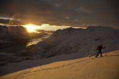 Skiing in Lofoten, Northern Norway Copyright: Espen Mortensen