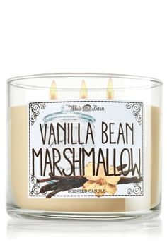 Vanilla Bean Marshmallow 3-Wick Candle - A comforting vanilla fragrance that evokes the sweetness of a homemade marshmallow
