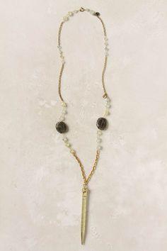 Vintage Pencil Necklace, Prehnite - Anthropologie.com