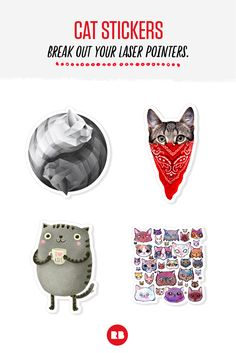 Cat Stickers - Break out your laser pointers.