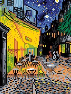 The Cafe Terrace by Van Gogh Cross Stitch Pattern by ArtbyMariana