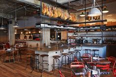 On the hotel's ground floor, Pizza East serves up wood-fired pies in a striking industrial space.