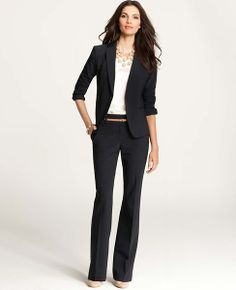 Ann Taylor - AT Suits - Pasque Pinstripe Jacket