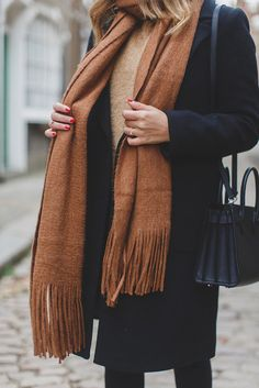 scarf tumblr coat bl