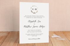 """Always"" - Rustic Foil-pressed Wedding Invitations in Gold by Susan Brown. Minted - get in blue ink"