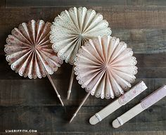 DIY Foldable Paper Wedding Fans