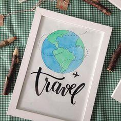 Quem aí AMAAA viajar ???! 🙋🏻♂️🙋🏻♂️🙋🏻♂️  Esse e mais outros quadros estarão na Feira Sabor & Arte, que vai acontecer amanhã na Cozinha Massari a partir das 18hs. Vou levar novidade pra feira, vocês vão curtir muito, e pra quem não puder ir, vou mostrar aqui no stories, fiquem ligados!!! *  *  *  #handlettering #lettering #feitoamao #handmade #tipografia #type #artedodia #design #decora #quadrospersonalizados #baluarte #quadrosdecorativos #travel #viajar #viajante #trip #aquarela…