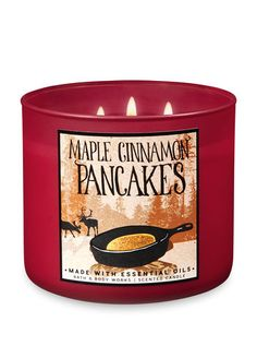 Maple Cinnamon Pancakes Candle - Bath And Body Works Bath Candles, 3 Wick Candles, Scented Candles, Candle Jars, Large Candles, Bath & Body Works, Candle In The Wind, Fall Scents, Bath And Bodyworks