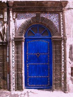 ~blue studded door!