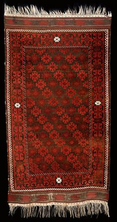 Culture Baluchi people Creation date late 19th century Collection Textiles Materials wool Dimensions 37 x 68 in. | 94.0 x 172.7 cm.