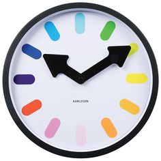 Pictogram Rainbow Clock – lunch is at green 'o' clock!