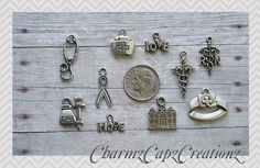 40pcs x 15mm x 10mm Antique Silver Bunny with carrot Charms//Pendants