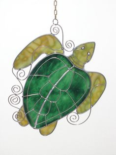 Turtle stained glass