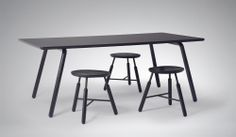 NORM Raft Table and Raft Stools