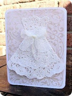 Doily dress card via @jenniferchapman