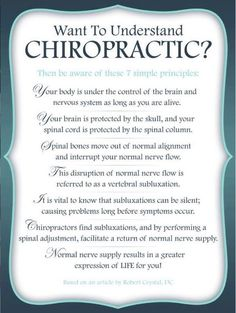 A great way to understand Chiropractic Care.   WE'VE GOT YOUR BACK!!!