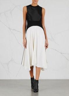 Monochrome panelled dress