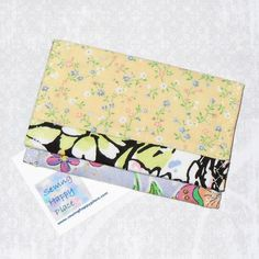 Sunny. Fabric Gift Card Wallet. Business Card by sewinghappyplace