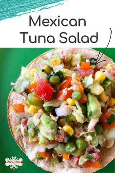 This Mexican Tuna Salad is light, refreshing, nutritious, and delicious. Ideal for a day you don't want to cook or use your oven or range. It's made with no mayo and lots of crunchy and vibrant veggies. The lime juice blends all ingredients to perfection. Serve on tostadas or with saltine crackers. I assure you, your family will ask for it over and over again. #mexicanfood #tunasalad #easyrecipe #familyrecipe Tuna Salad No Mayo, Mexican Food Recipes, Ethnic Recipes, Famous Mexican, Saltine Crackers, Side Recipes, Tostadas, Lime Juice, Mayonnaise