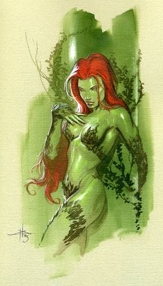 Poison Ivy By Gabriele Dell'Otto #Comics #Illustration #Drawing