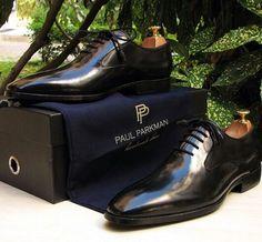 Paul Parkman Plain Toe Black Oxfords For Men #paulparkman #handmade #luxury #mensshoes    Website : www.paulparkman.com