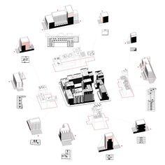 Isometrie. Beeld: NL Architects en BeL Sozietät für Architektur