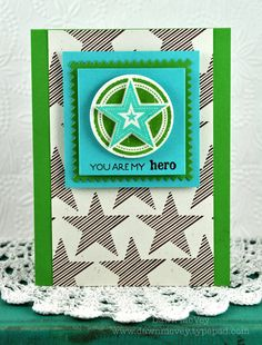 My Hero Card by Dawn McVey for Papertrey Ink (June 2012)