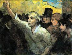 Honoré Daumier:  The Uprising (1860)