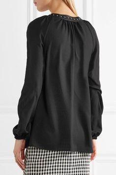 4da2dbc906264 Altuzarra - Yuba Embellished Crepe De Chine Blouse - Black