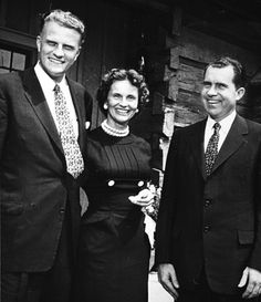 Ruth and Billy Graham with President Richard Nixon