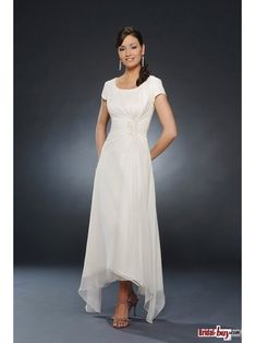mother of the bride dresses tea length | ... line Scoop Neck Tea-length Chiffon Mother of the Bride Dress WPMD-1006