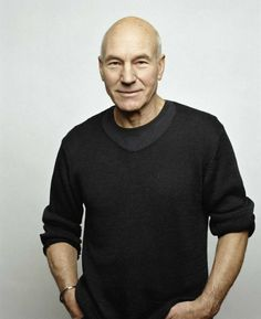 Patrick Stewart. I guess 72 is the oldest I'd go?