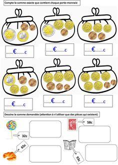 EURO: mes leçons, exerices et activités autonomes | BLOG GS CP CE1 CE2 de Monsieur Mathieu JEUX et RESSOURCES