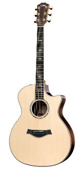 Taylor 814ce Acoustic/Electric Guitar W/Case - Rosewood Grand Auditorium, 6-String, CE: The flagship series of our acoustic/electric line traces back to Bob Taylor's first rosewood guitars, which helped establish a modern acoustic guitar sound. The addition of Taylor's easy-to-play nylon-string models to the series speaks to the emergence of nylon tone as an increasingly popular acoustic flavor for contemporary players.