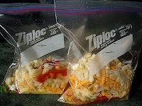 Good short article giving smart tips for packing camp meals utilizing ziploc bags.