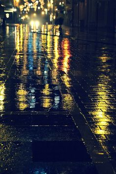 Streets on a rainy night
