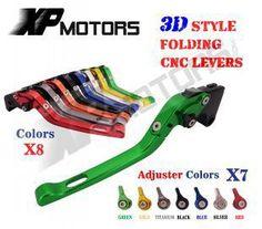 CNC 3D Folding Brake Clutch Lever For Kawasaki ZX-6 ZZR600 ZR750 Zephyr ZX-9R ZX9R ZXR400 GPZ500S EX500R Ninja