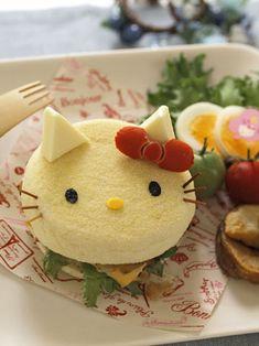 Hello Kitty English muffin sandwich