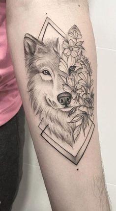 Wolf Tattoos For Women, Sleeve Tattoos For Women, Female Tattoos, Wolf Tattoo Design, Tattoo Designs, Body Art Tattoos, Hand Tattoos, Lion Forearm Tattoos, Tatoos