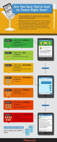 Social Media Postings unter Alkoholeinfluss? Das kann Folgen haben! ;-) Besser erst lesen, dann trinken und (vielleicht) posten...