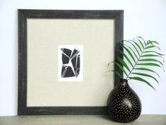Modern Geometric Block Print by Printwork