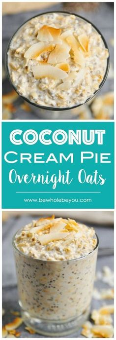 Coconut Cream Pie Overnight Oats - Clean Eating Recipes - Welcome back, there! Today I'll share one of the most sensational Clean Eating Recipe ! >> * You Must Click The Pin For Detailed Clue >> * We are hope you love it Clean Eating For Beginners Clean Eating Recipes For Dinner, Healthy Breakfast Recipes, Clean Eating Snacks, Healthy Eating, Healthy Drinks, Dinner Recipes, Nutrition Drinks, Eating Habits, Healthy Snacks